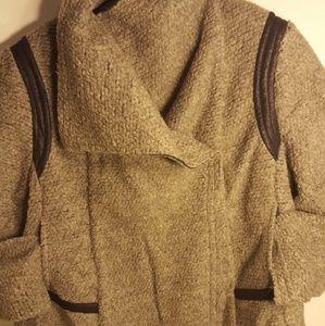 Layne Bryant double breasted wool swing jacket